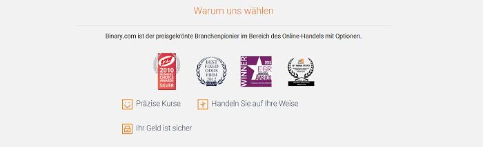 Binary.com Auszeichnungen