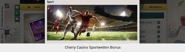 Cherry Casino Sportwetten Bonus