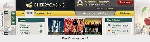 Cherry Casino Zusatzangebot