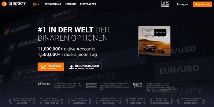 IQ Option Testsieger