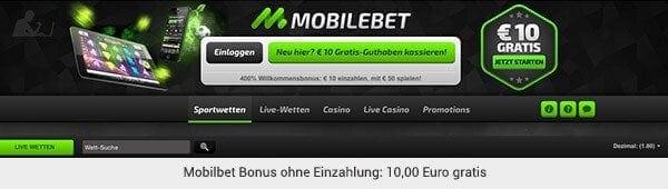 Mobilbet Sportwetten Bonus