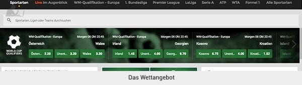 Mr Green Sportwetten Angebot