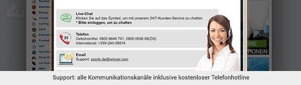 Winner Kundenservice