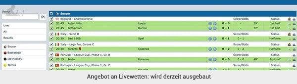 Winner Livewetten
