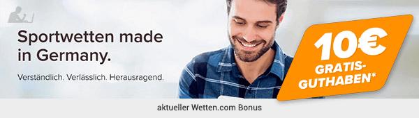 Wetten.com aktueller Bonus