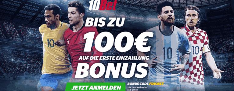 10Bet Bonus Sportwetten