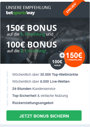 betsportsway Bonus Empfehlung