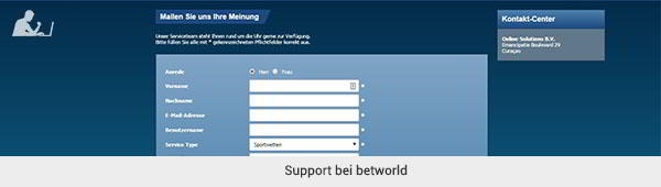 betworld Support
