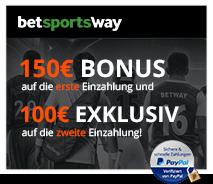 betway 150€ Bonus