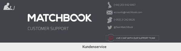 Matchbook Kundensupport