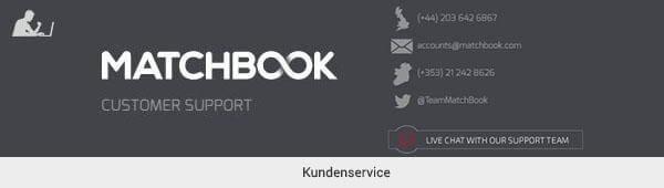 Matchbook Kundensupport