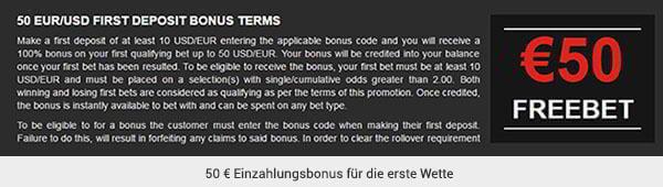 VitalBet Sportwetten Bonus