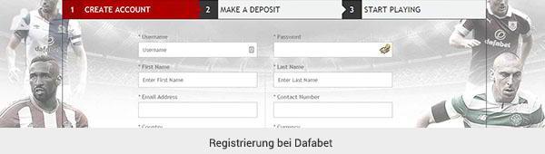 DafaBet Registrierung