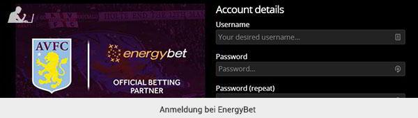 EnergyBet Registrierung