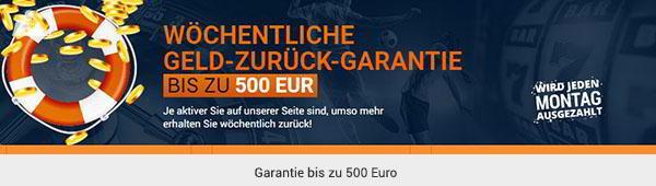 gamebookers Bonus Geld zurück