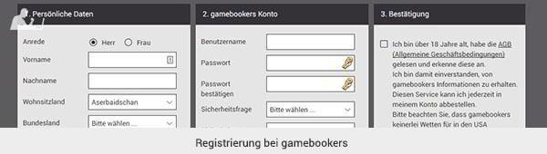 gamebookers Anmeldung