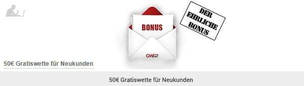 GWbet Bonus Gratiswette