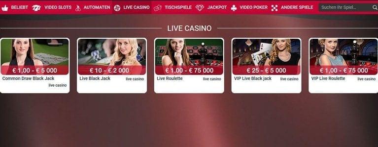 Live-Spiele bei Adler mit Echtgeld