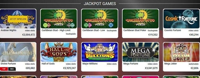 Jackpots in Millionenhöhe