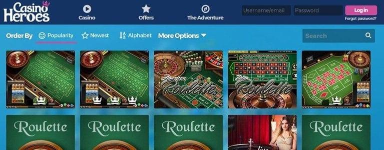 Roulette auch als Live-Games
