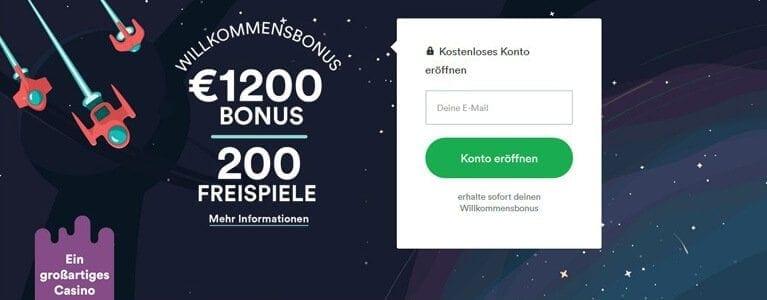 Bis zu 1.200 Euro Bonus und Freispiele