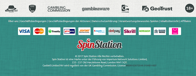 SpinStation Payments + Lizenz