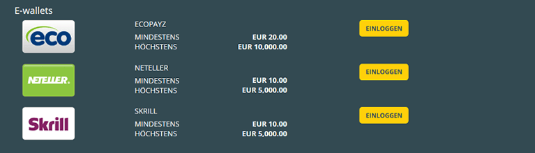 Viks.com Zahlungsmethoden