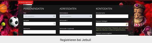 Jetbull Registrierung