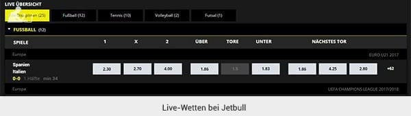 Jetbull Livewetten