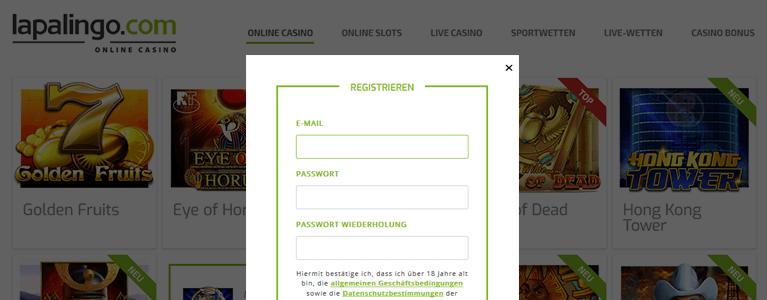 Lapalingo Casino Registrierung