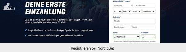 NordicBet Registrierung