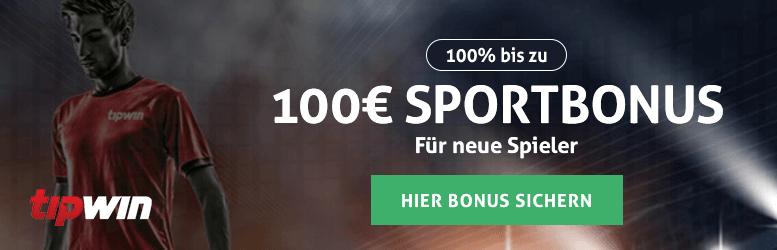 Tipwin Sportwetten Bonus