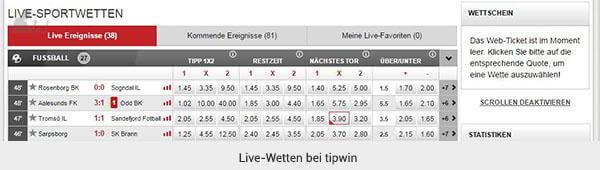 tipwin Livewetten