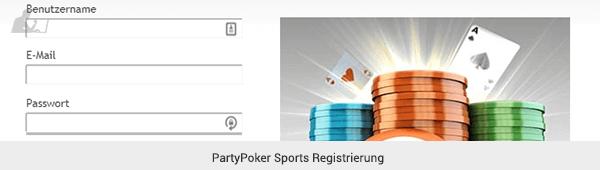 PartyPoker Sports Registrierung