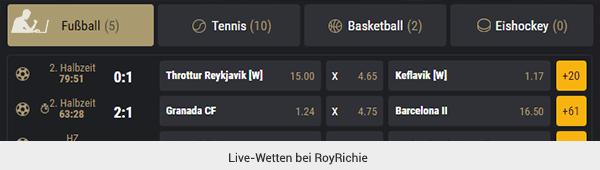 RoyRichie Livewetten