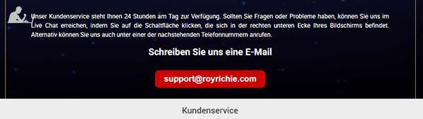 RoyRichie Kundensupport