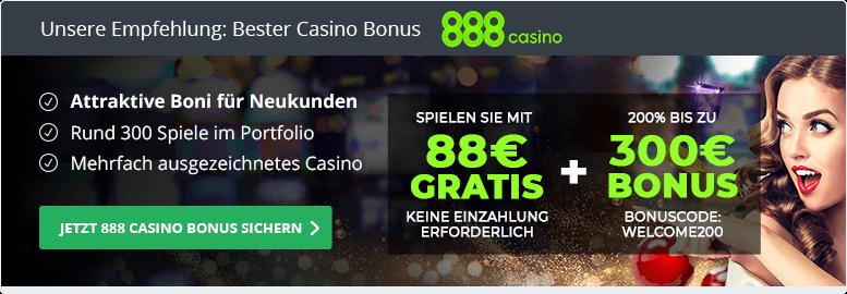 888casino Empfehlung bester Casino Bonus