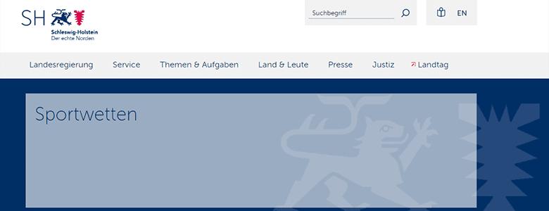 Sportwetten Anbieter Lizenz Schleswig-Holstein