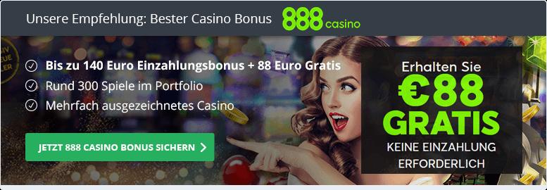 888 Casino Empfehlung bester Bonus