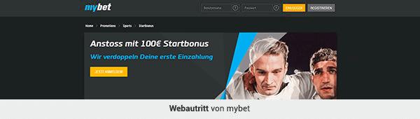 mybet Webseiten Layout