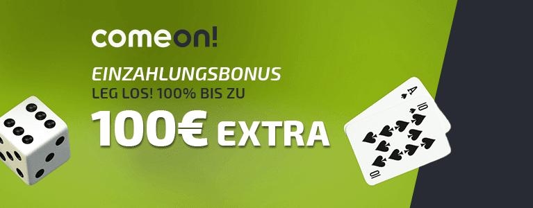 ComeOn Casino Bonus für Neukunden