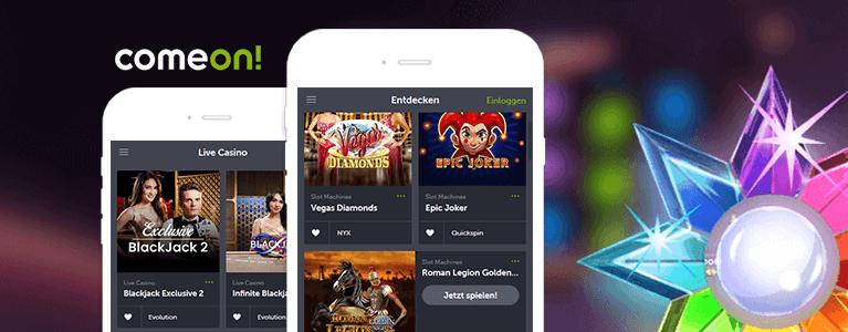 ComeOn! Casino App