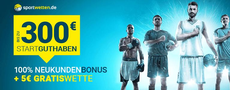 Sportwetten.de Bonus für Neukunden
