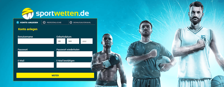 Sportwetten.de Registrierung