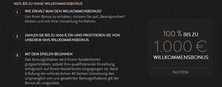 OVO Casino Willkommensbonus