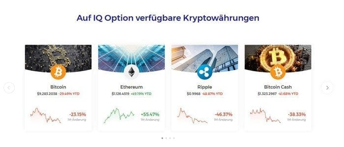 14 Kryptowährungen bei IQ Option
