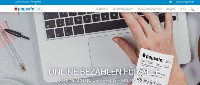Online Bezahldienst Paysafecard