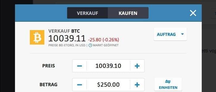 auf fallende Bitcoin Kurse wetten