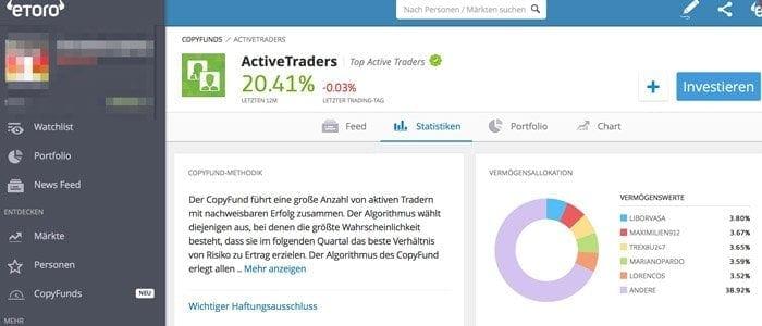 eToro Social Trading Kopierfunktion