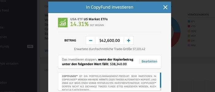 eToro Social Trading Copy Funds